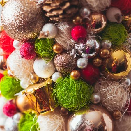Handmade Christmas tree close up as a background