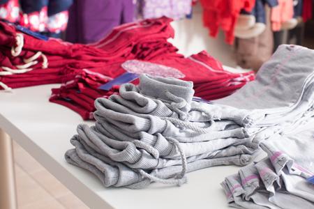 Trendy clothing shop Stock Photo