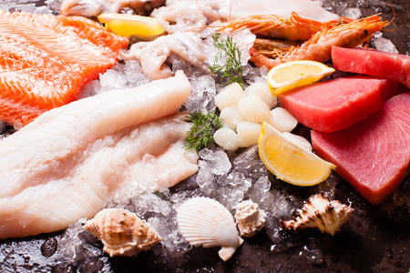 Seafood on the ice
