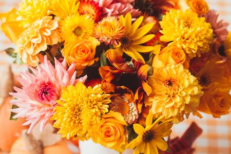 Autumn yeloow flowers