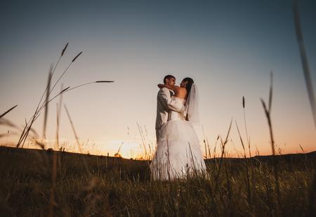 Dancing wedding couple photo