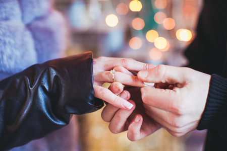 The marriage proposal Stock Photo