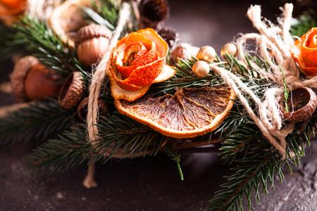 Christmas aromatic eco wreath