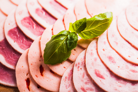 Variety of processed cold meat products