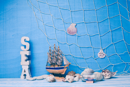 Sea interior decorations Stock Photo