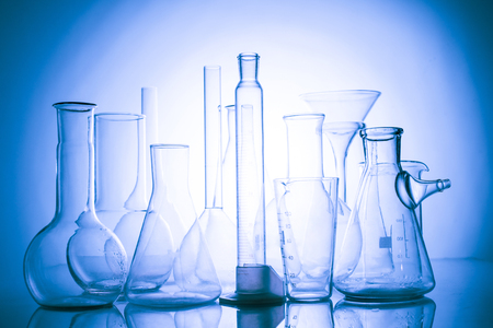 The Laboratory glass Stock Photo