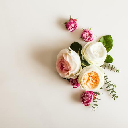 Floral wedding frame Standard-Bild