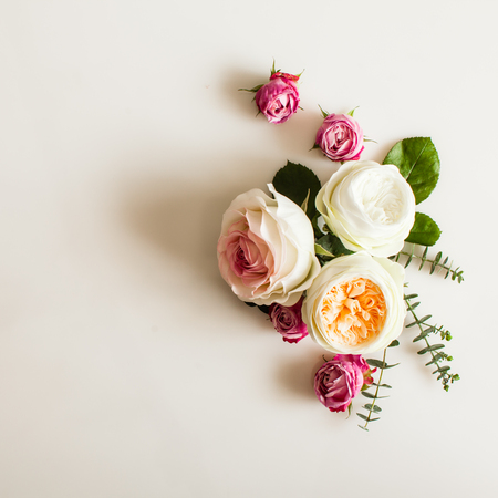 Floral wedding frame Stock Photo