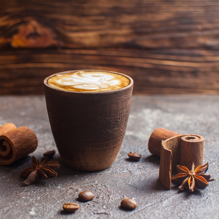 Capuccino with spices Stock Photo