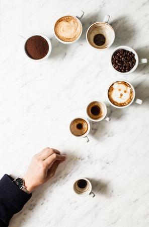 Coffee cup assortment 写真素材