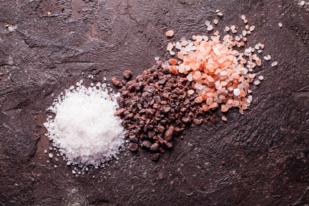 Various tupes of salts Stock Photo