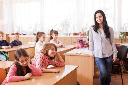 Teacher starts the lesson
