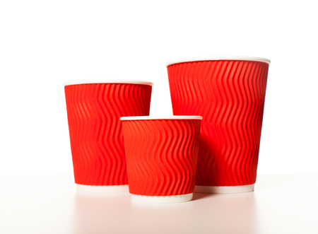 Set of paper cups Stock Photo