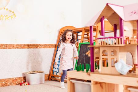 happy girl in the kindergarten Stock Photo - 97788640