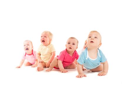 crying babies isolated