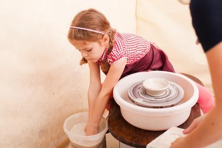 Childs ceramic handicrafts Stock Photo