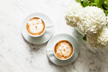 Latte art coffee Фото со стока