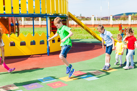 Game for all children outdoors in the summer Banco de Imagens