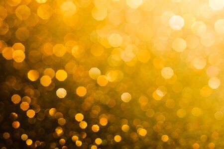 Gold abstract bokeh background for holiday design or party style overlay