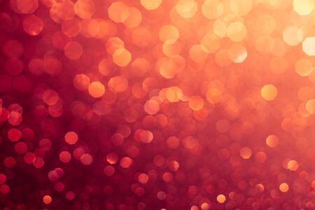 Red abstract bokeh background for holiday design or party style overlay