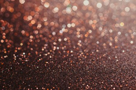 Brown abstract bokeh background for holiday design or party style overlay Stock Photo