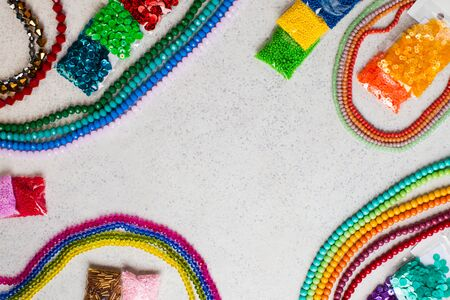 Sets for embroidery and jewelry making with beads