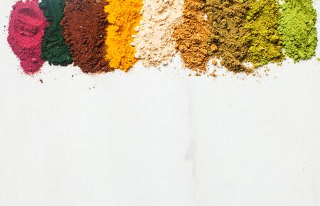 Border design top view superfood Smoothie Boosters
