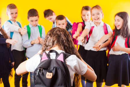 The schoolgirl who suffers from bullying by classmates