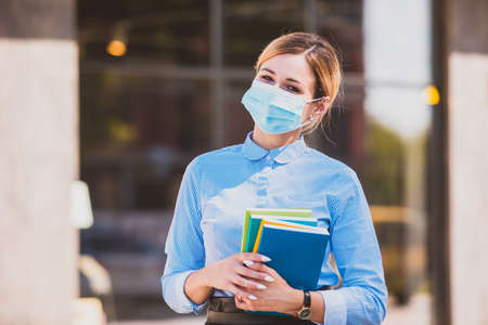 The student is happy to return to studying in a pandemic