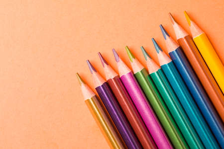The pencils in metallic colors for modern art