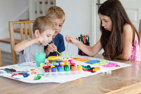 Cooperation between brothers and sister while creative process