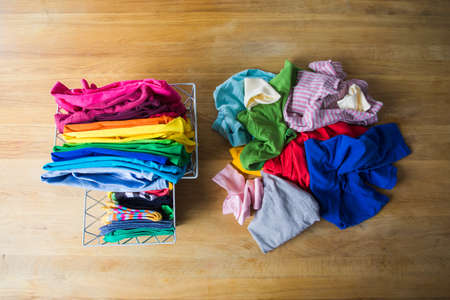 Zero waste wardrobe concept or mindful consuption Stock fotó