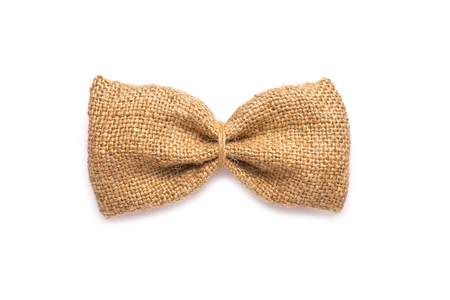 Bow tie for men out of burlap.On a white background for designers
