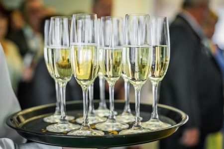 fizz: Champagne on a tray