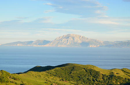 Strait of Gibraltar is a narrow strait that connects the Atlantic Ocean to the Mediterranean Sea and separates Gibraltar and Spain in Europe from Morocco in Africa