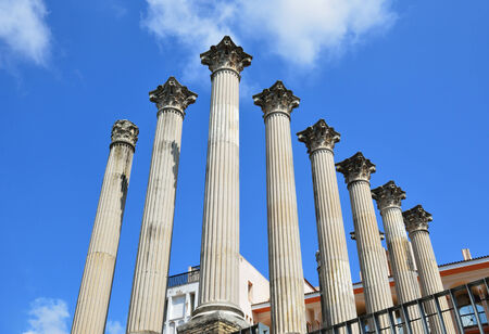 regenerated: The Spanish city of Cordoba has remains of a Roman temple  The building was situated on a podium and consisted of 26 marble columns