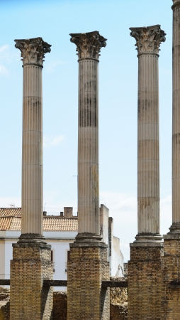 rehabilitated: The Spanish city of Cordoba has remains of a Roman temple  The building was situated on a podium and consisted of 26 marble columns