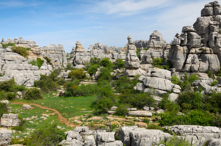 landforms: El Torcal de Antequera is known for its unusual landforms and is one of the most impressive karst landscapes