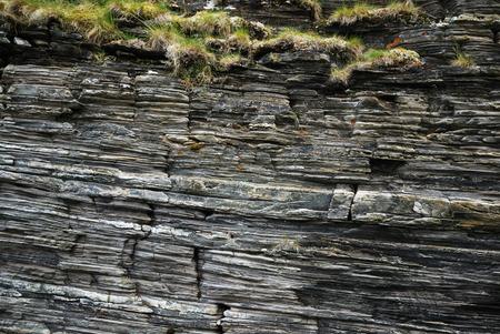slaty: Norwegian rocks have a slaty texture