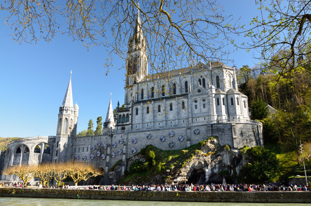 the church of our lady: The Basilica of Our Lady of the Immaculate Conception is a Roman Catholic church and minor basilica in Lourdes  It was built on top of the rock above the Grotto