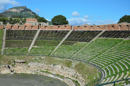 retrieved: Ancient Greek theatre is the most remarkable monument remaining at Taormina  This is one of the most celebrated ruins in Sicily