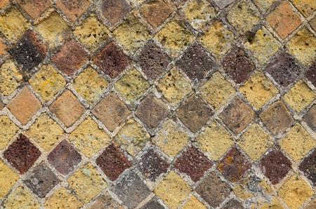 extant: La teselaci�n restos romanos en la antigua muralla. Una gran colecci�n de mosaicos y frescos existentes fueron encontradas en Pompeya.