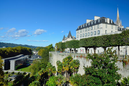 edifices: There are edifices, an alley of the topiary trees and a public garden in the Boulevard of Pyrenees.