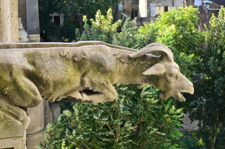 waterspout: Una tromba a forma di animale � sulla Basilica del Sacro Cuore a Parigi. Archivio Fotografico