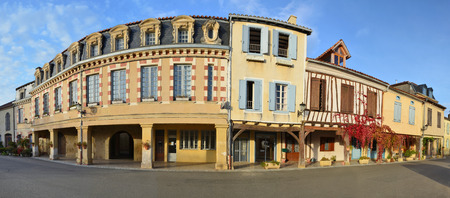 gascony: The ancient village Lupiac is a typical castelnau preserved in the historical region Gascony. The famous French hero d