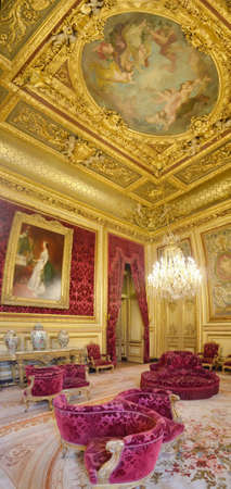 The large drawing room of the Napoleon III Apartment typifies the taste of the period for opulent interiors.