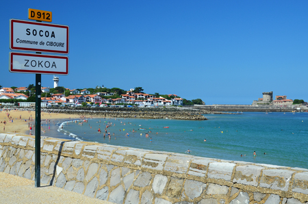 pays: Ciboure is a famous resort on the Basque coast. It is known for its old fortress and sandy beaches in the bay de Socoa. Editorial