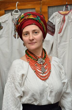 perls: The woman is wearing a Ukrainian vintage national clothes.