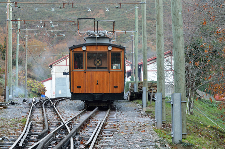 rack mount: The Petit train de la Rhune is a cog railway in France at the western end of the Pyrenees. A cog railway is a steep grade railroad with a toothed rack rail between the running rails.