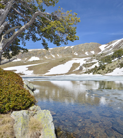 tourism in andorra: The upper part of the Vall-de-Madriu-Perafita-Claror is an exposed glacial landscape with tarns and neves.